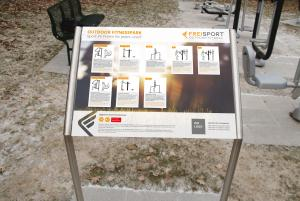 Vorschau: Standortschild für Outdoorfitnessgeräte