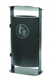 Vorschau: Stand-Abfallbehehälter mit Dach