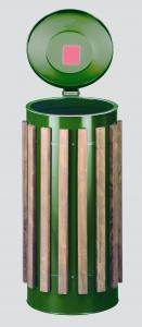 Vorschau: Abfallbehälter mit Holzdekor Kompakt Luxus